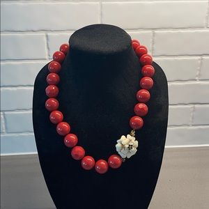 Stella & Dot Red Beaded Necklace